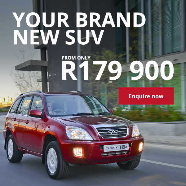 Your brand new SUV - The Chery Tiggo